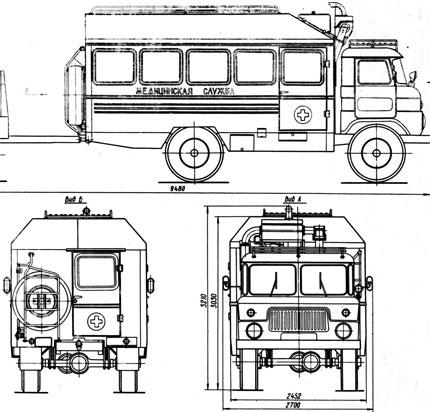 подробный чертеж ГАЗ-66
