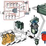 Электросхема ГАЗ-3307
