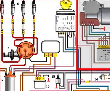 Электрическая схема газ 3309 дизель стоп сигнал 137