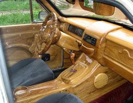 деревянный салон газ 24