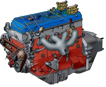 Схема двигателя 4061.10