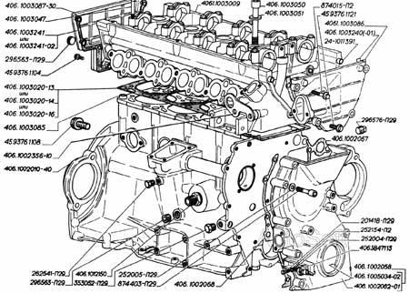 Схема устройства двигателя ЗМЗ