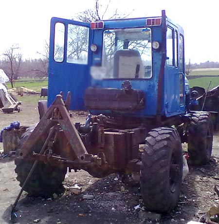 Газ 66 на самодельный трактор 68