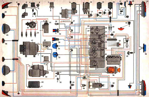 электросхема газ 3309