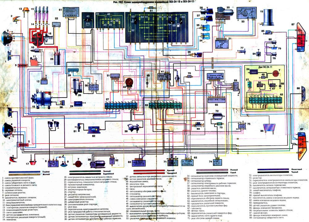 Схема проводки для газ 3110 99