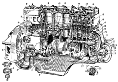 чертеж двигателя для ГАЗ 51