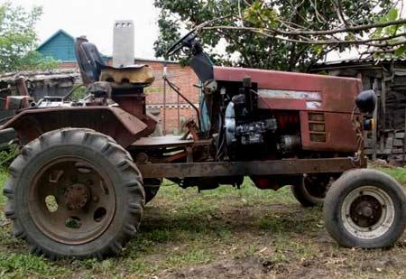 двигатель ЗМЗ 53 на тракторе