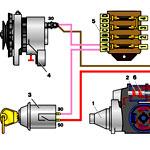 Схема электрооборудования ГАЗ 53