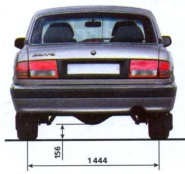 задняя колея газ 3110