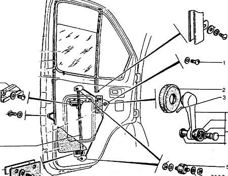 схема стеклоподъёмника