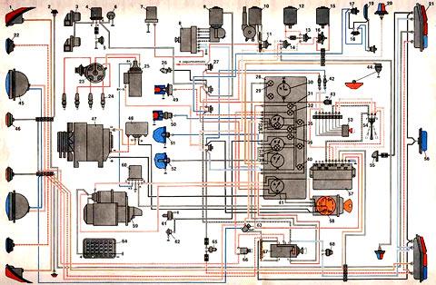 газ 24 электросхема