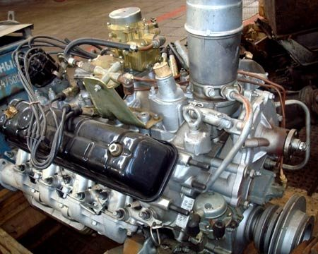 собранный двигатель