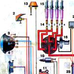 Подробная электросхема Волги ГАЗ-24