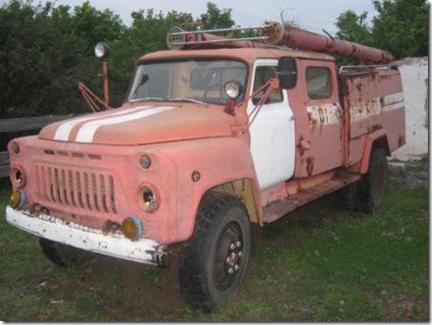 Пожарная машина на базе автомобиля ГАЗ-53 А