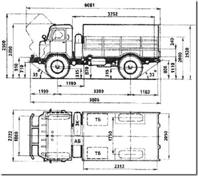 чертеж ГАЗ 66